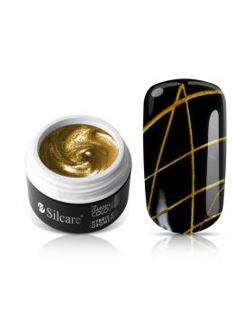 Спайдер UV/LED гел за декорация Silacre, златo, 5g